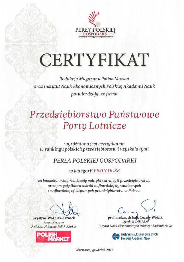 Porty Lotnicze Perłą Polskiej Gospodarki
