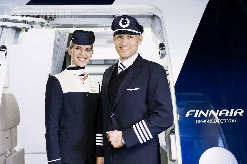 Finnair cabin attendant and pilot 01