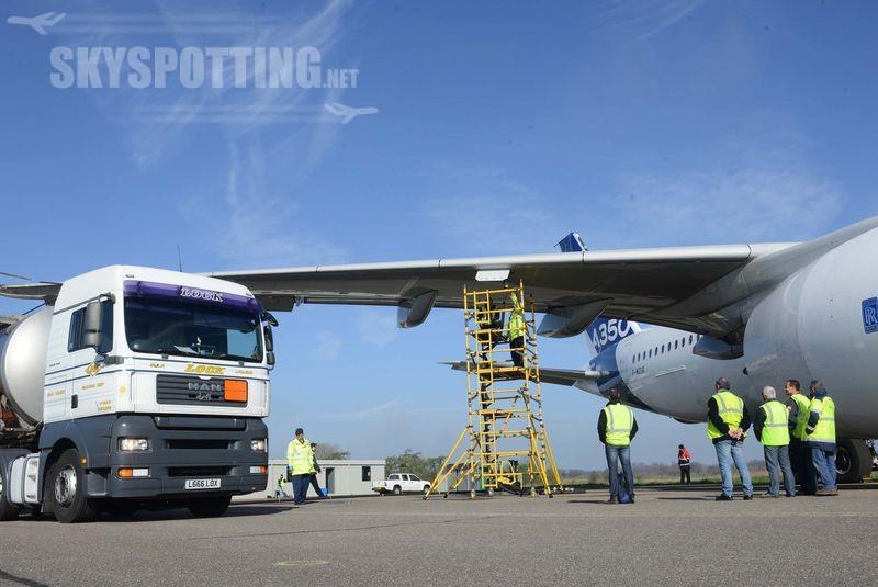 A350 z wizytą w UK