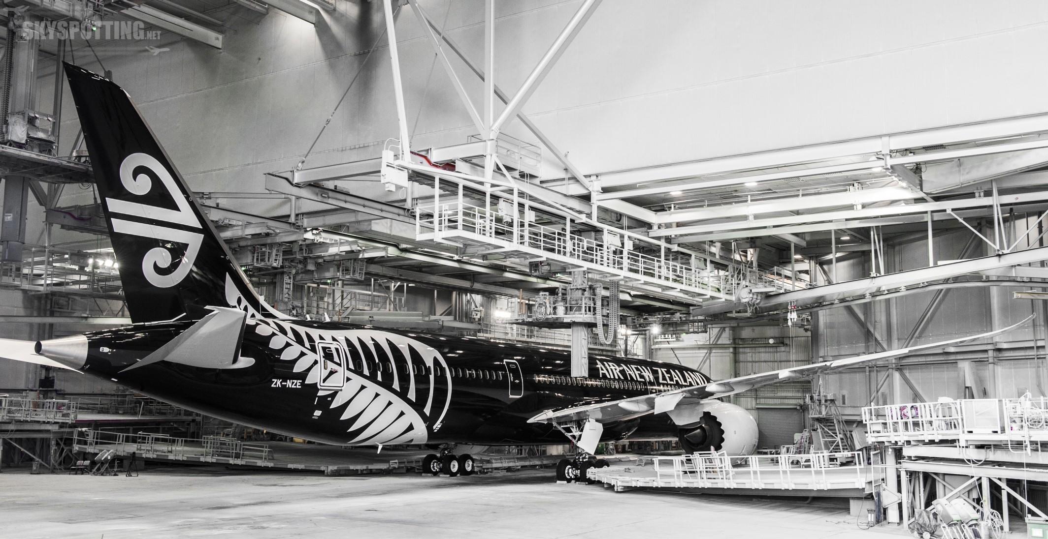 Boeing i linie Air New Zealand prezentują 787-9 w nowych barwach przewoźnika