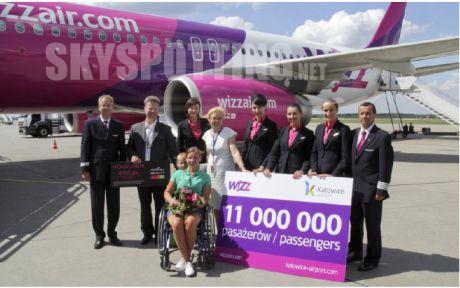 Wizz Air świętuje przewiezienie 11-milionowego pasażera