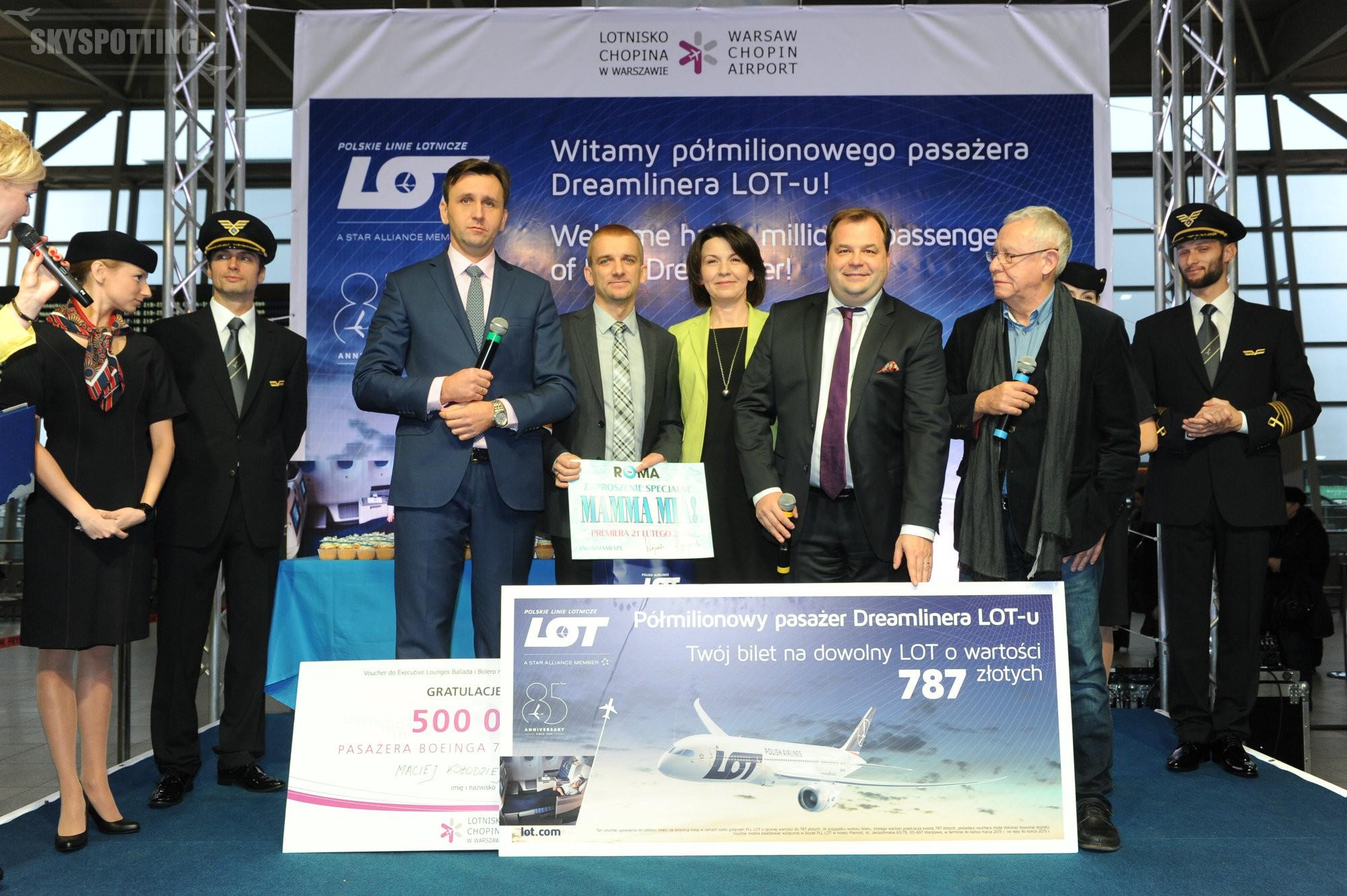 Dreamlinery LOT-u przewiozły pół miliona Pasażerów!