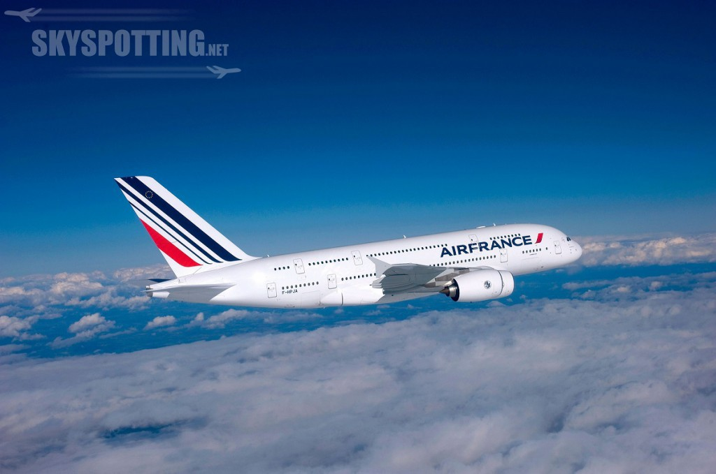 Airbus A380 w barwach Air France