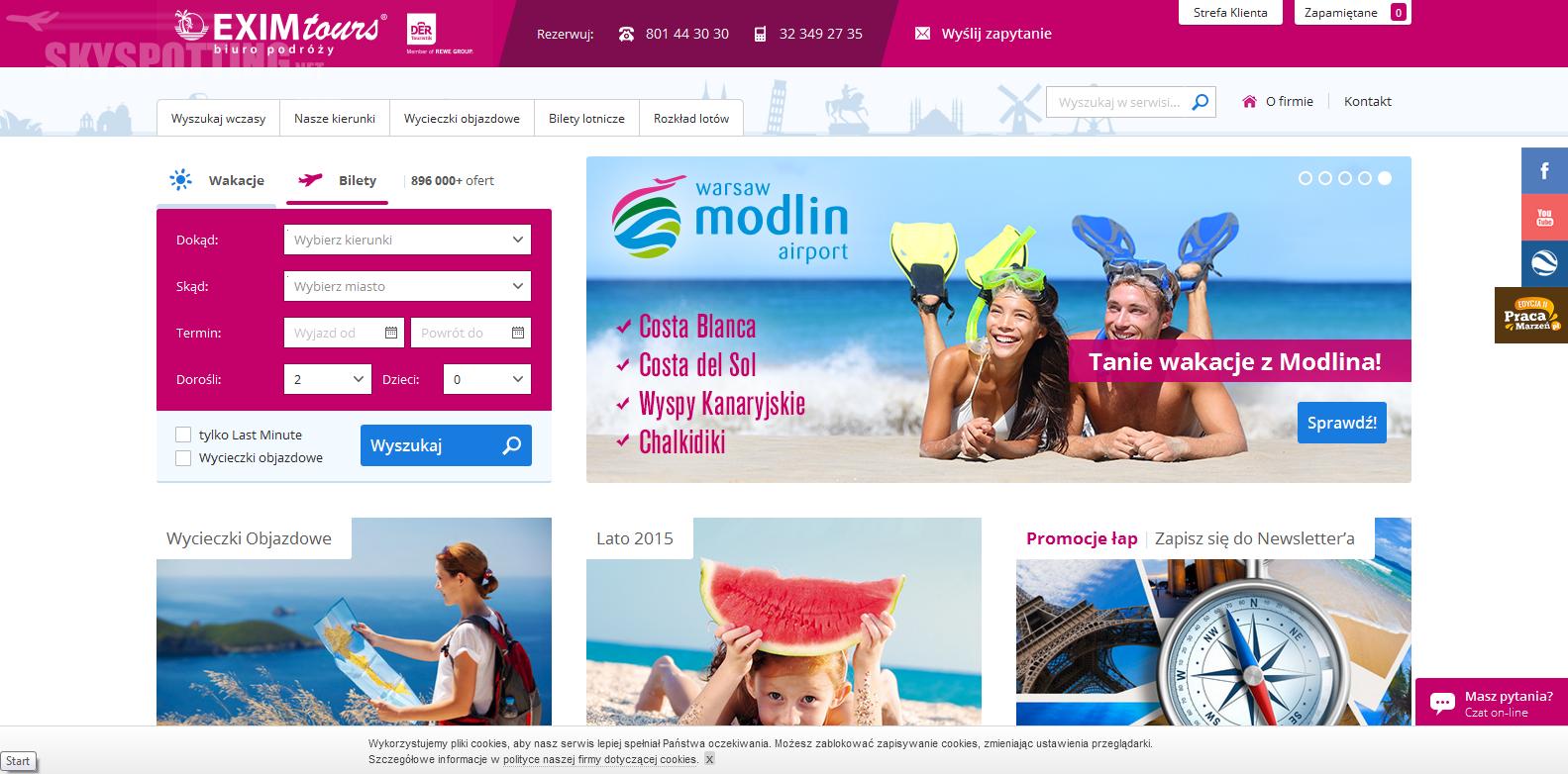 Lotnisko Warszawa/Modlin: Zapraszamy na wakacje z EXIM Tours!