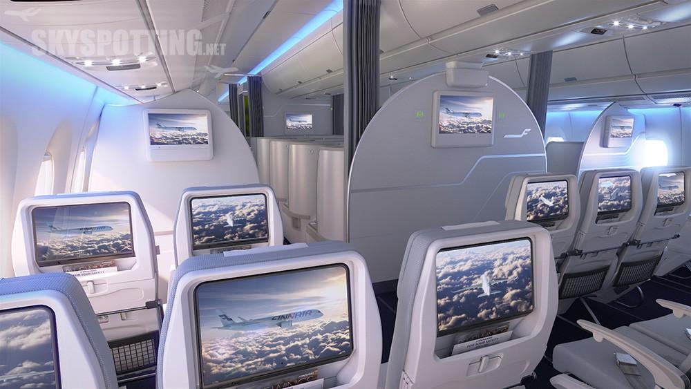 Finnair A350 XWB Economy Class Cabin 06 LR