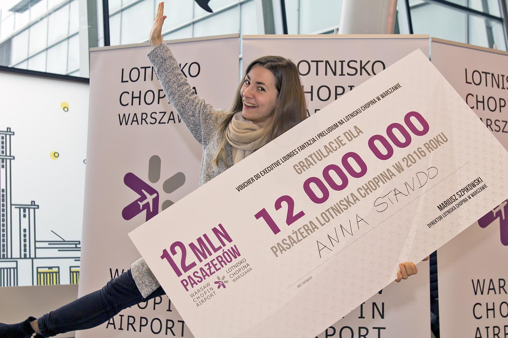Lotnisko Chopina obsłużyło 12-milionowego pasażera