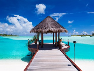 13503770 - jetty with amazing ocean view on tropical island