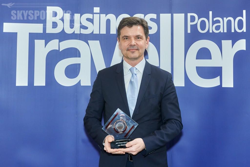 Frantisek Siling przyjmuje nagrode dla AFKL Business Traveller Awards 2017