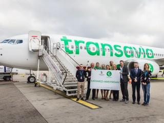 Powitanie Transavia w Katowicach