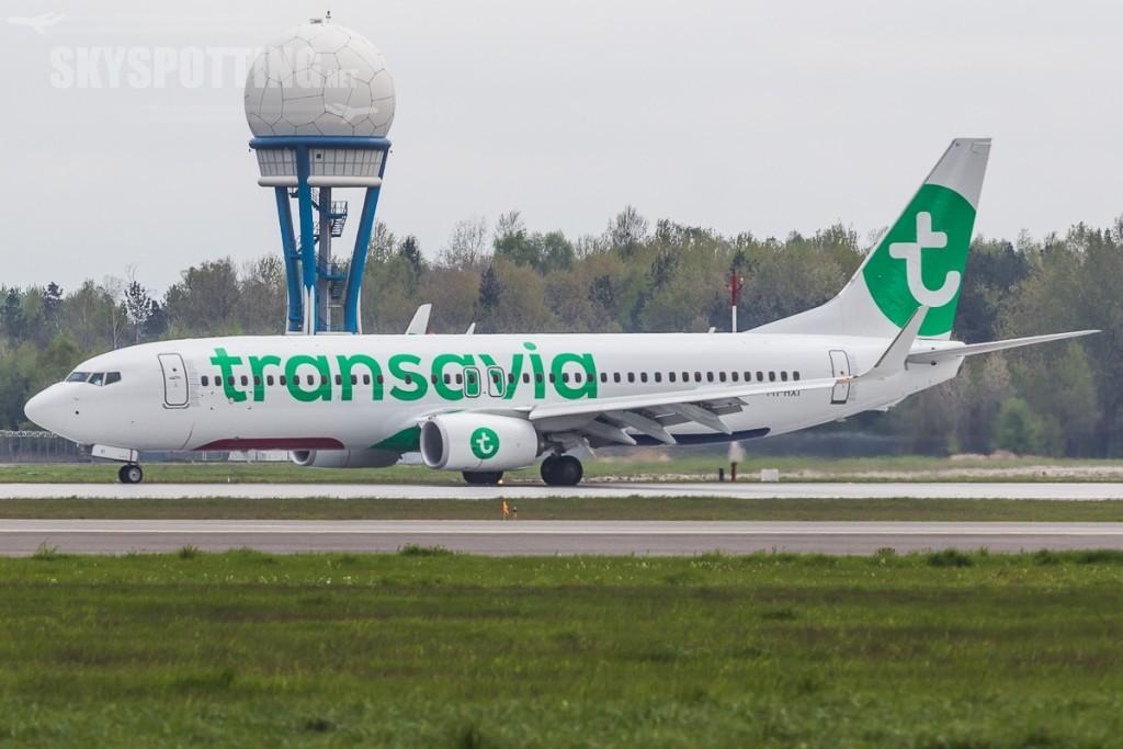 Transavia ladowanie w Katowicach