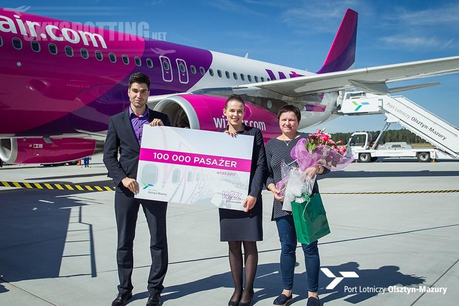 Wizz Air świętuje ważny kamień milowy w porcie lotniczym Olsztyn-Mazury