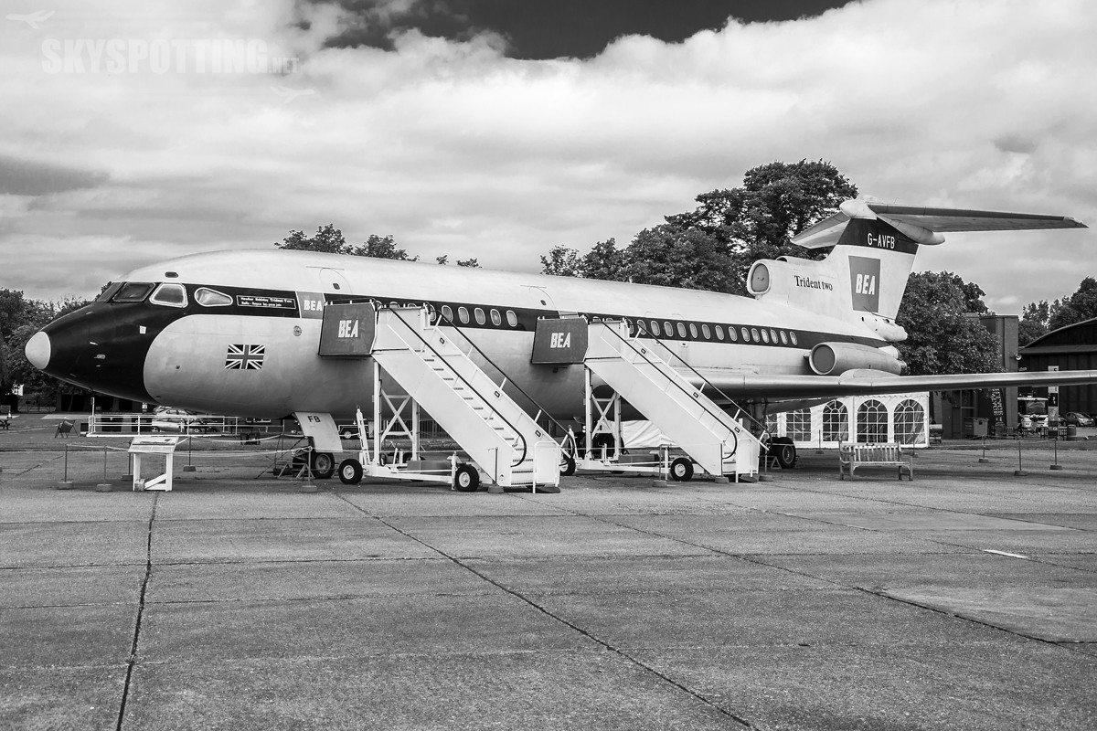 Hawker-Siddeley-HS-121-Trident-2E-G-AVFB-BW