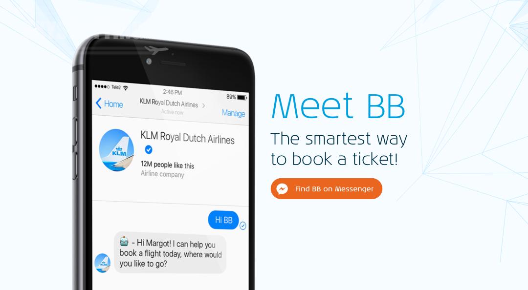 BlueBot – pierwszy wirtualny pracownik KLM sprzedaje bilety przez Messengera