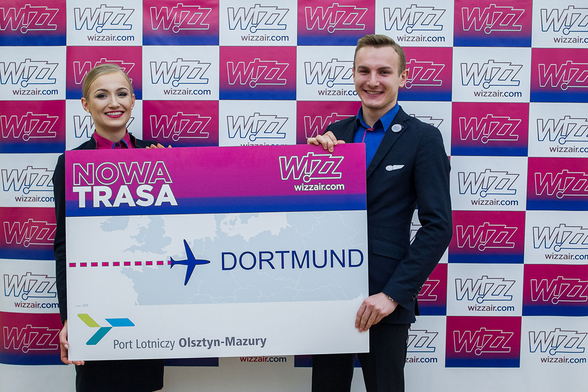 Wizz Air ogłasza nową trasę z portu lotniczego Olsztyn-Mazury do Dortmundu
