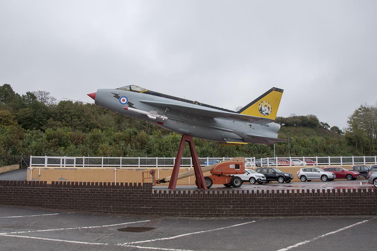 Śladami pomników lotniczych , część 22 – English Electric Lightning , Kornwalia , United Kingdom