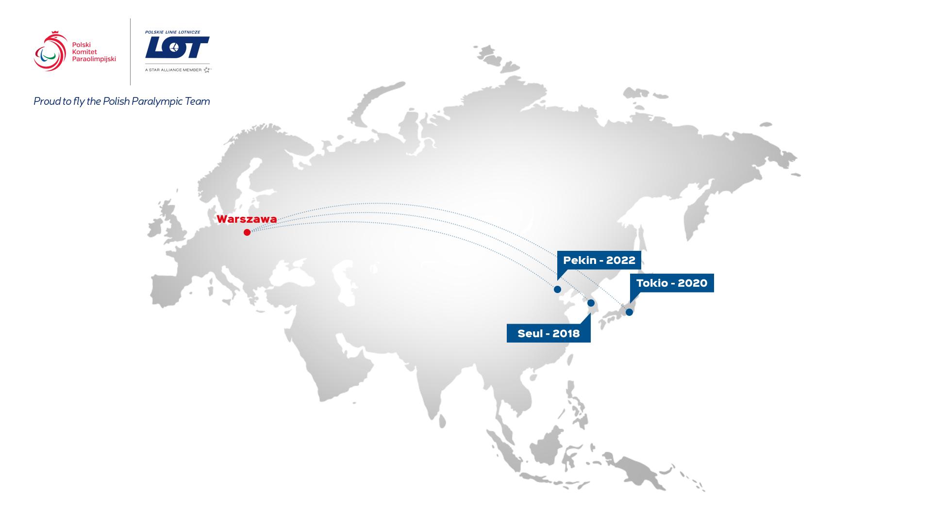 Pjongczang, Tokio i Pekin. LOT zabierze paraolimpijczyków na trzy kolejne igrzyska w Azji