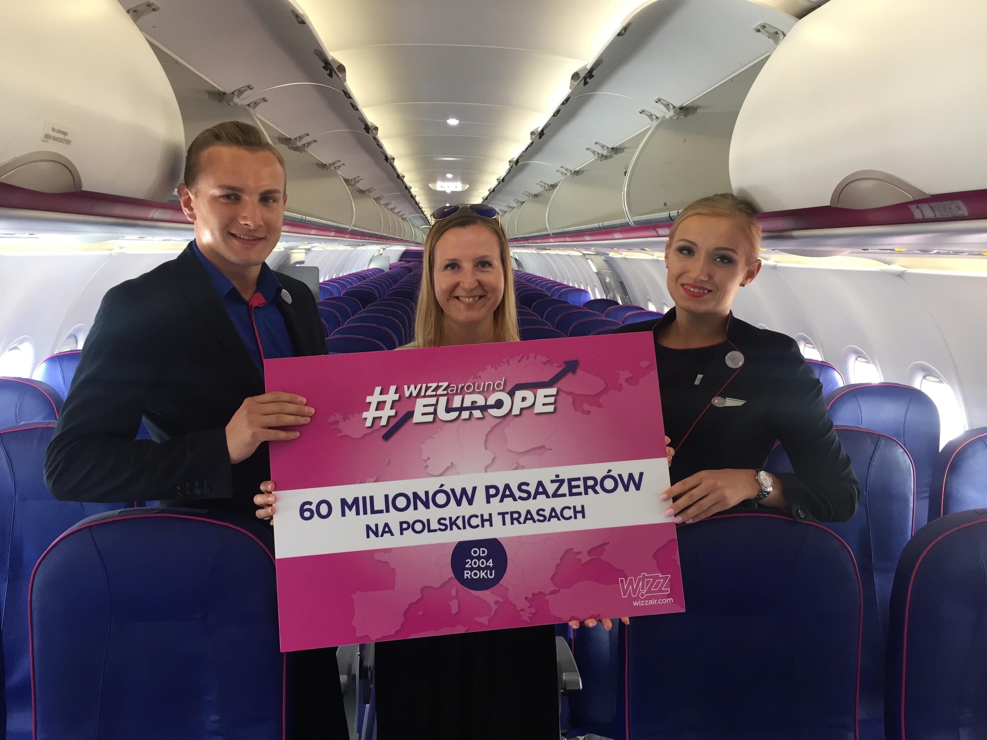 Wizz Air świętuje 60 milionów pasażerów w Polsce