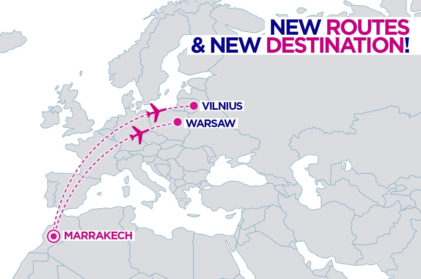 Nowy wakacyjny kierunek w siatce połączeń Wizz. Tej jesieni zostaną uruchomione dwa połączenia do Marrakeszu