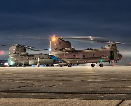 RAF Odiham – Chinook nocą