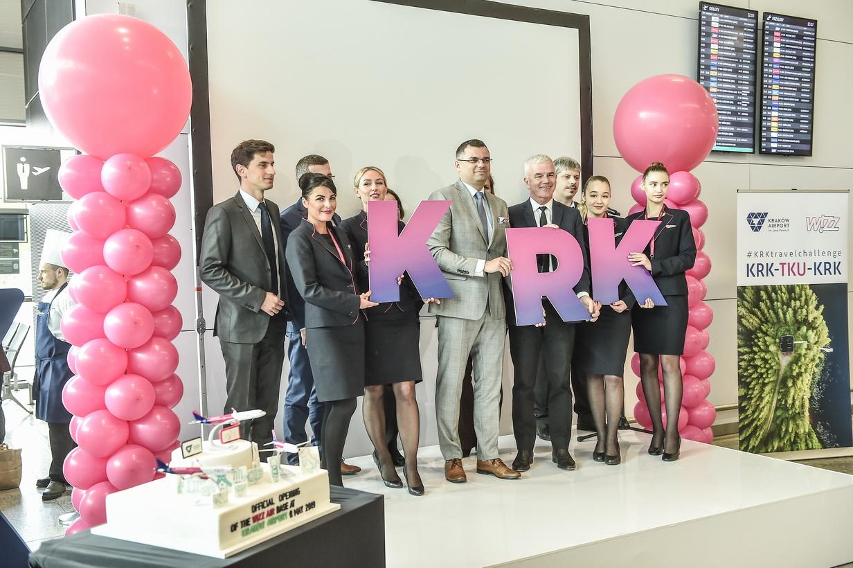 Wizz Air świętuje otwarcie nowej bazy w Polsce na lotnisku w Krakowie