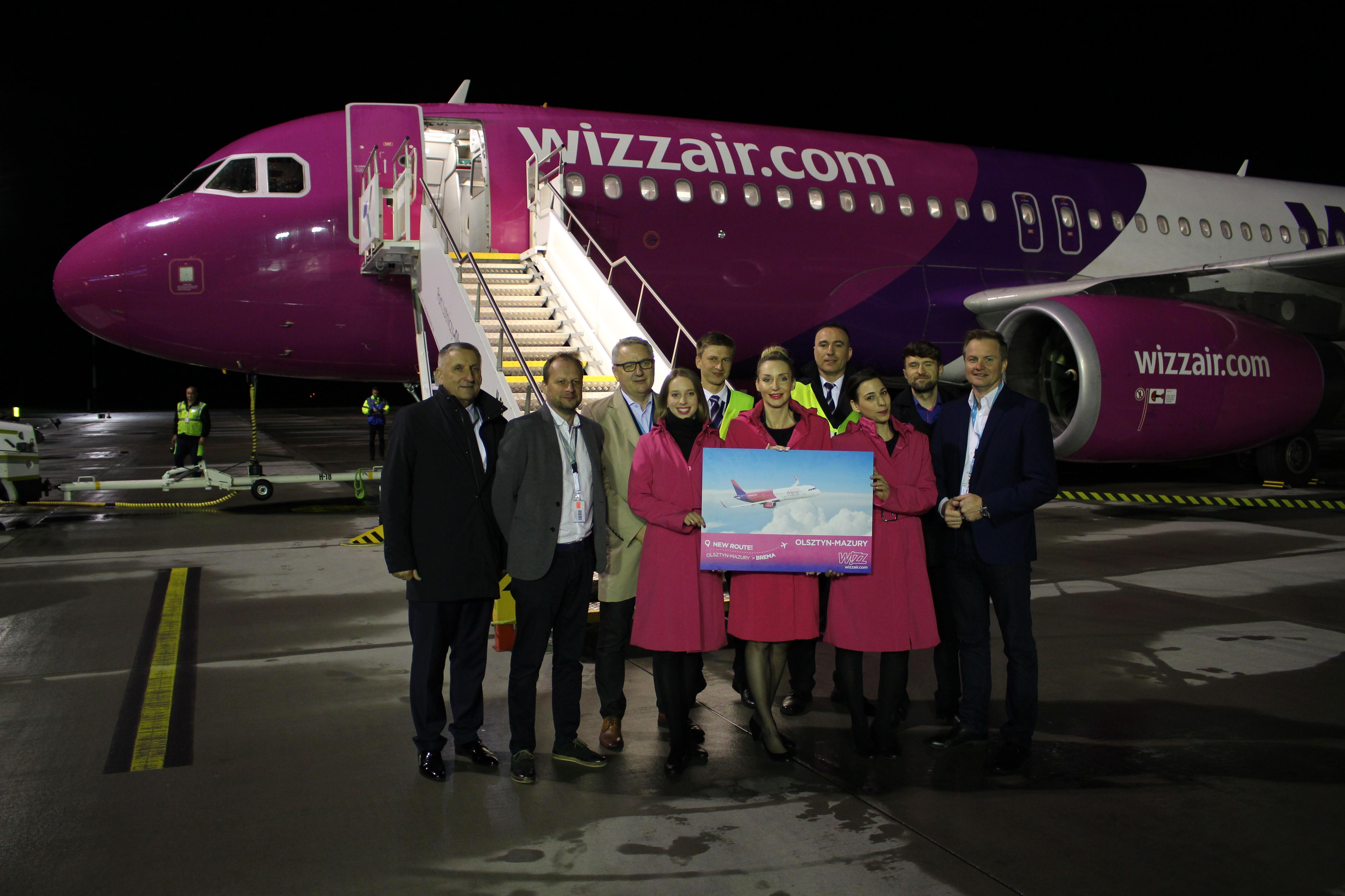 Wizz Air uruchomił połączenie z Olsztyna do Bremy