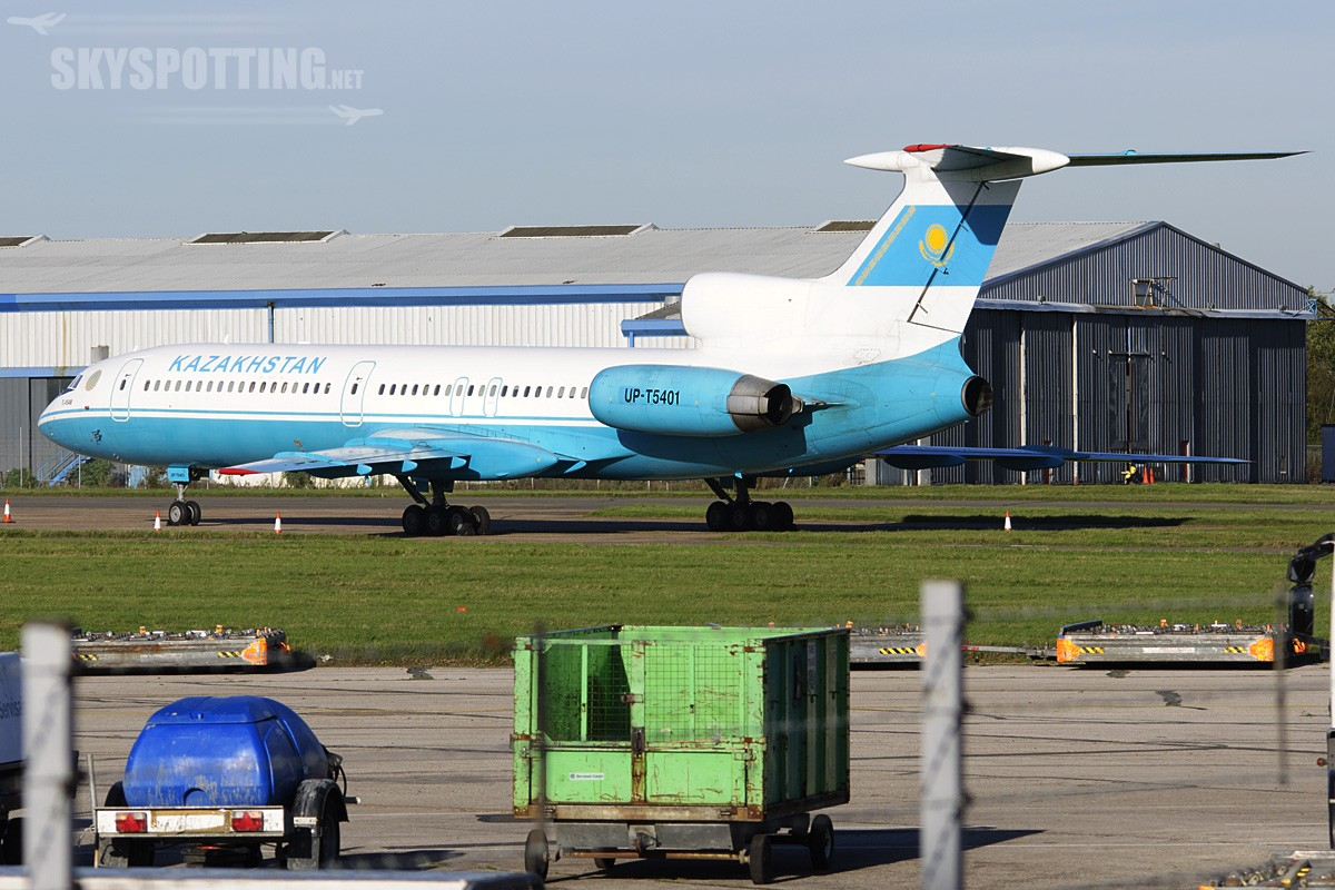 Spotting Tu-154 na London Stansted