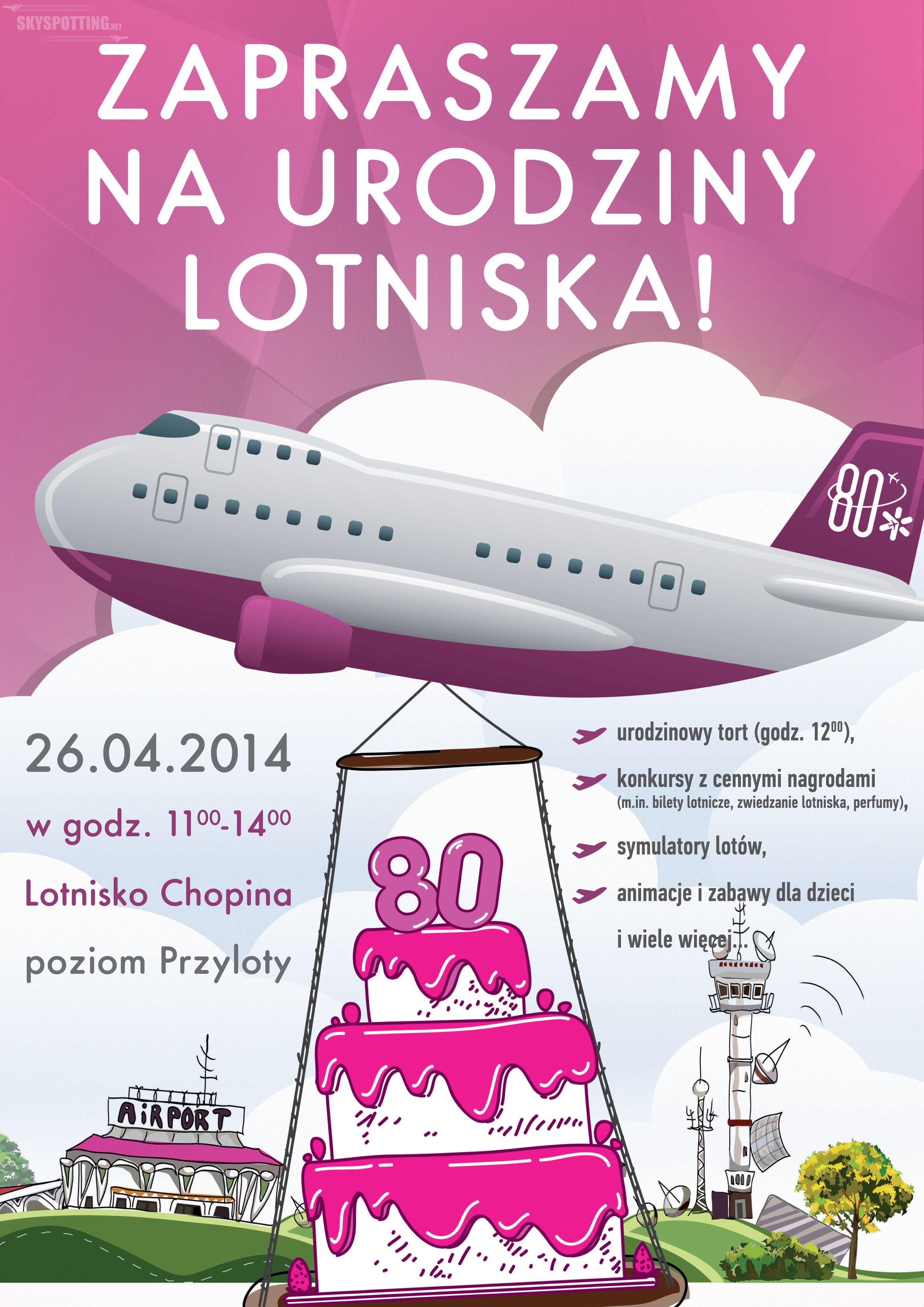 Lotnisko Chopina świętuje 80 urodziny. Zapraszamy na imprezę!