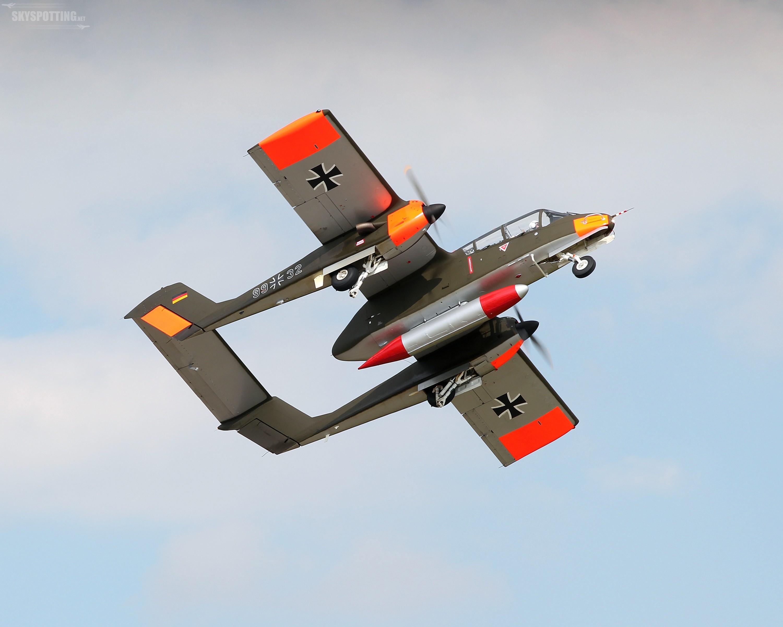Powrót Rockwell OV- 10 Bronco na pokazy RAF Waddington