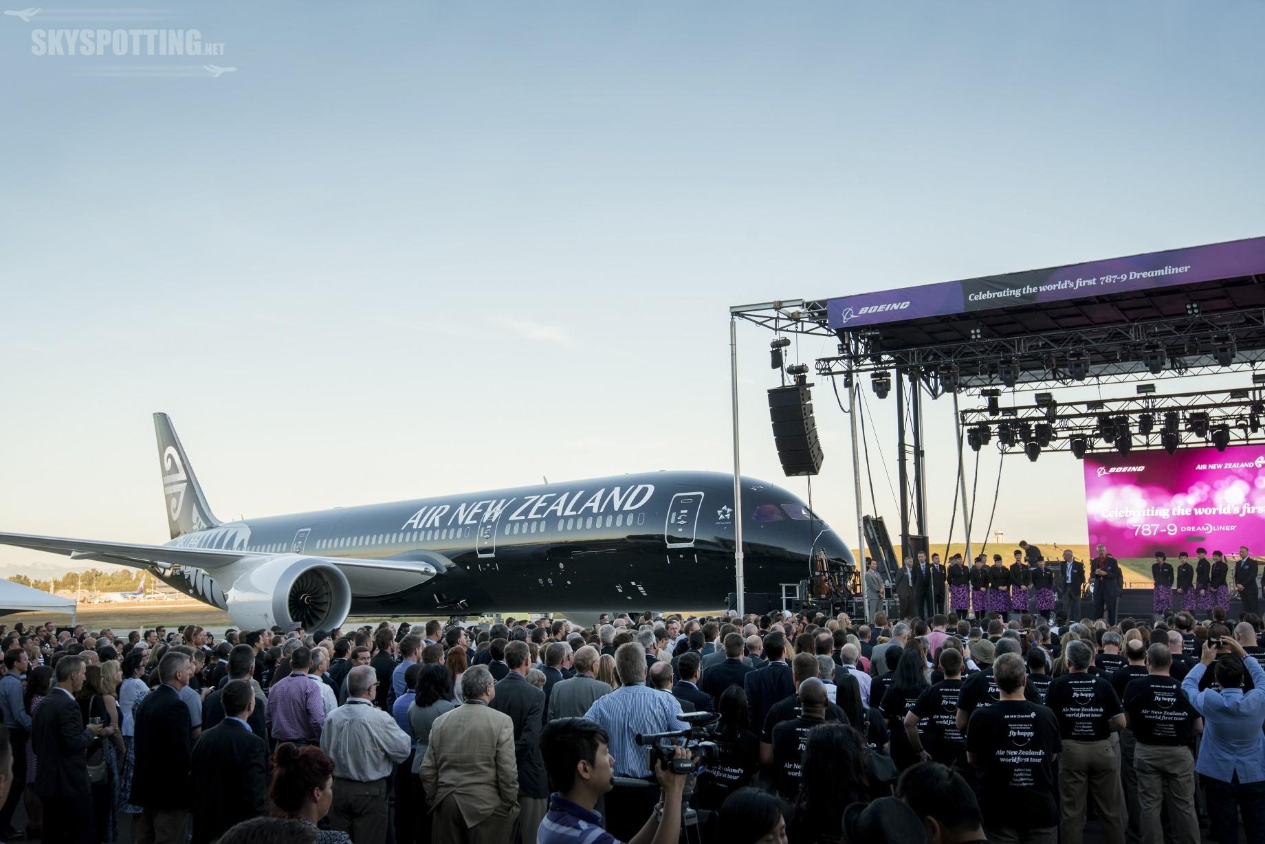 Boeing i Air New Zealand świętują dostarczenie pierwszego samolotu 787-9 Dreamliner