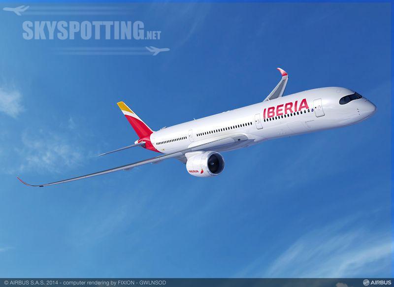 IAG dostarcza A350 dla linii Iberia