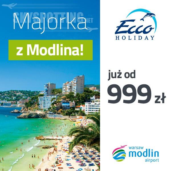 Ecco Holiday – kolejne biuro podróży oferuje wycieczki z Modlina!