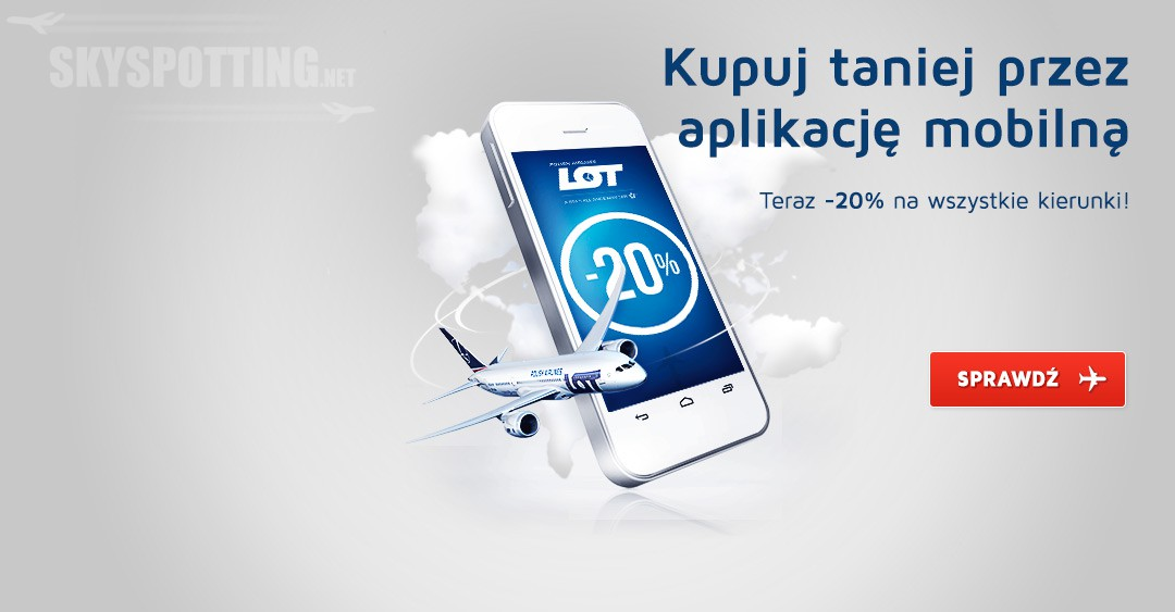 Mobilni lecą taniej. 20% zniżki na bilety kupione przez aplikację LOT Mobile
