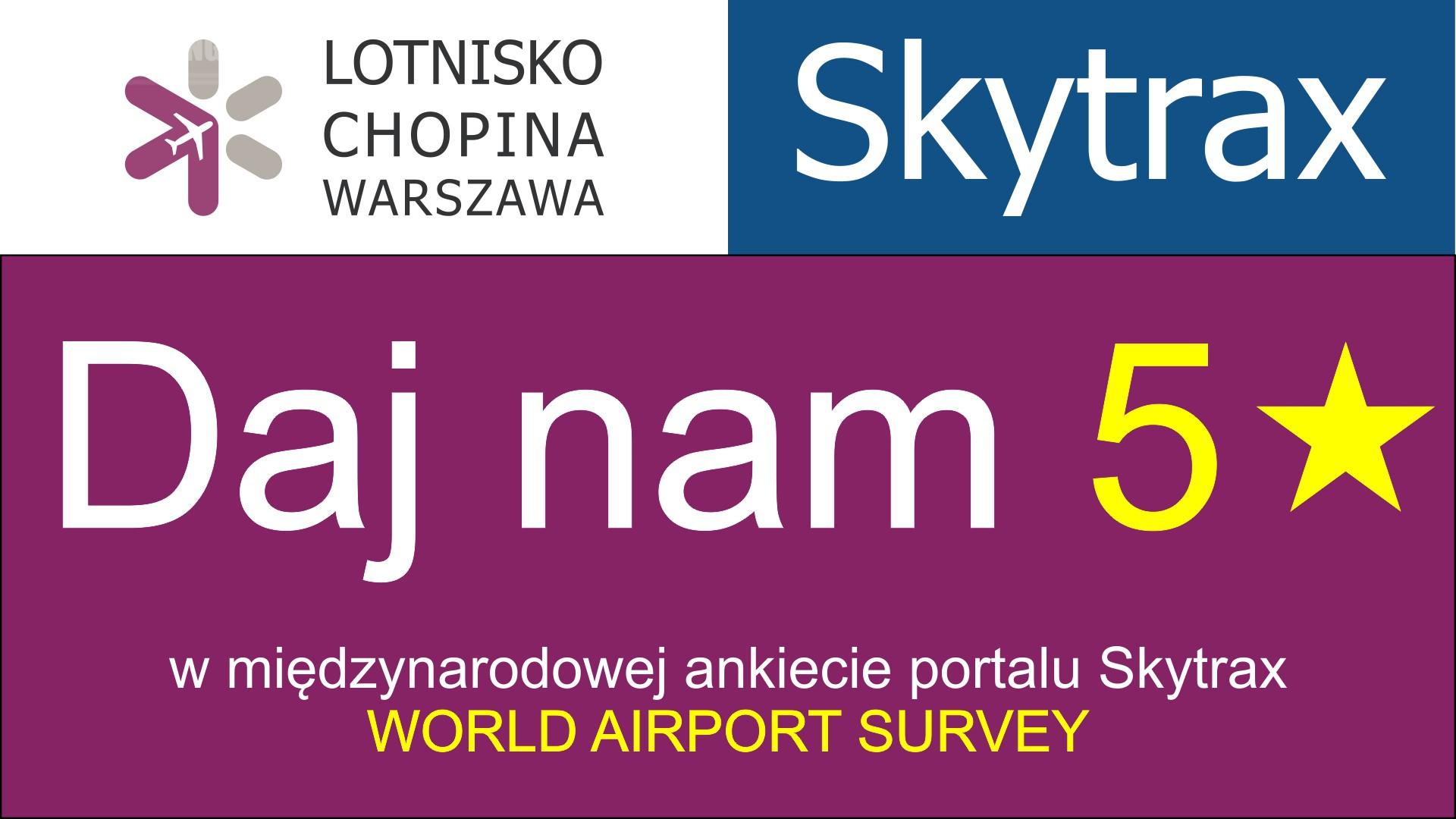 Oceń lotnisko Chopina na 5* w plebiscycie portalu Skytrax