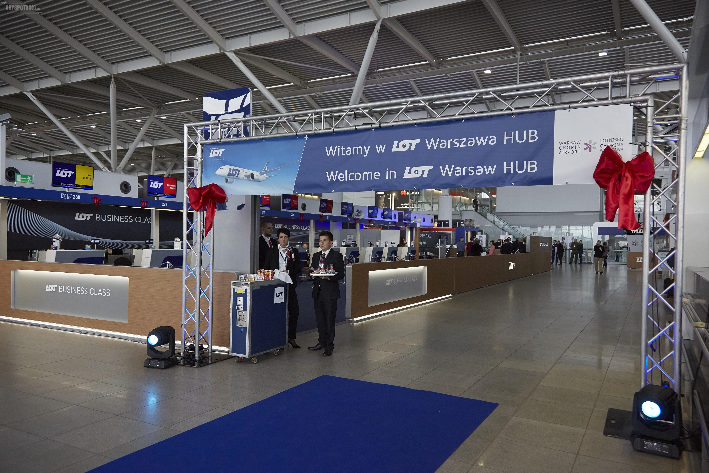 LOT otwiera najwygodniejsze centrum przesiadkowe w Nowej Europie