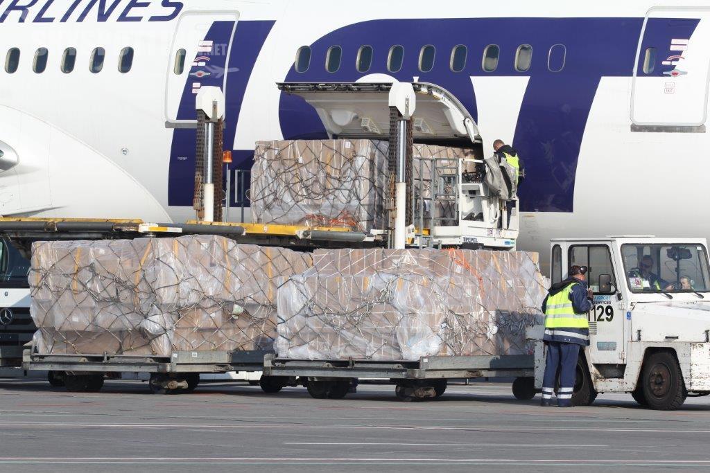 Wzrost przewozów cargo na Lotnisku Chopina w I kw. 2016