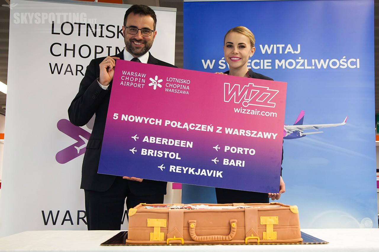 Wizz Air rozpoczyna operacje na pięciu nowych trasach z Warszawy
