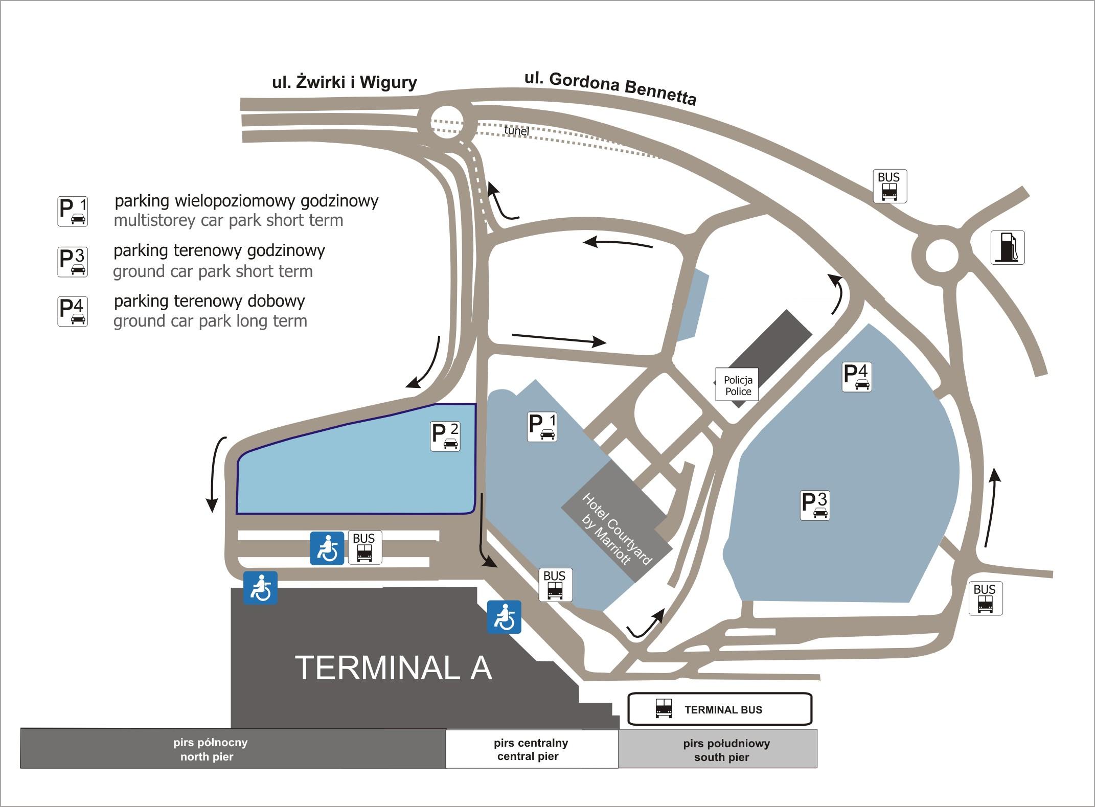 Nowe miejsca parkingowe na Lotnisku Chopina