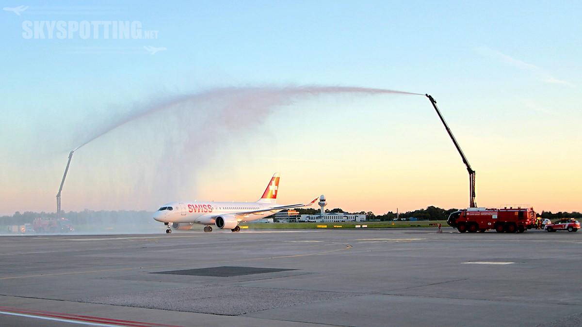 Lotnisko Chopina wita Bombardiera C Series SWISSa