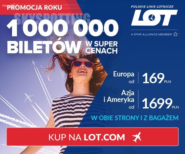 Milion biletów na wymarzone podróże z LOT-em!