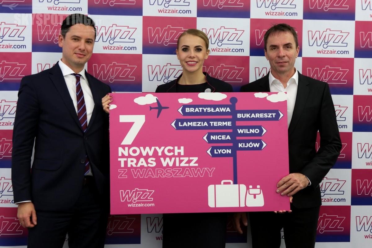 Wizz Air: Siodmy samolot w bazie na lotnisku Chopina i siedem nowych tras Wizz