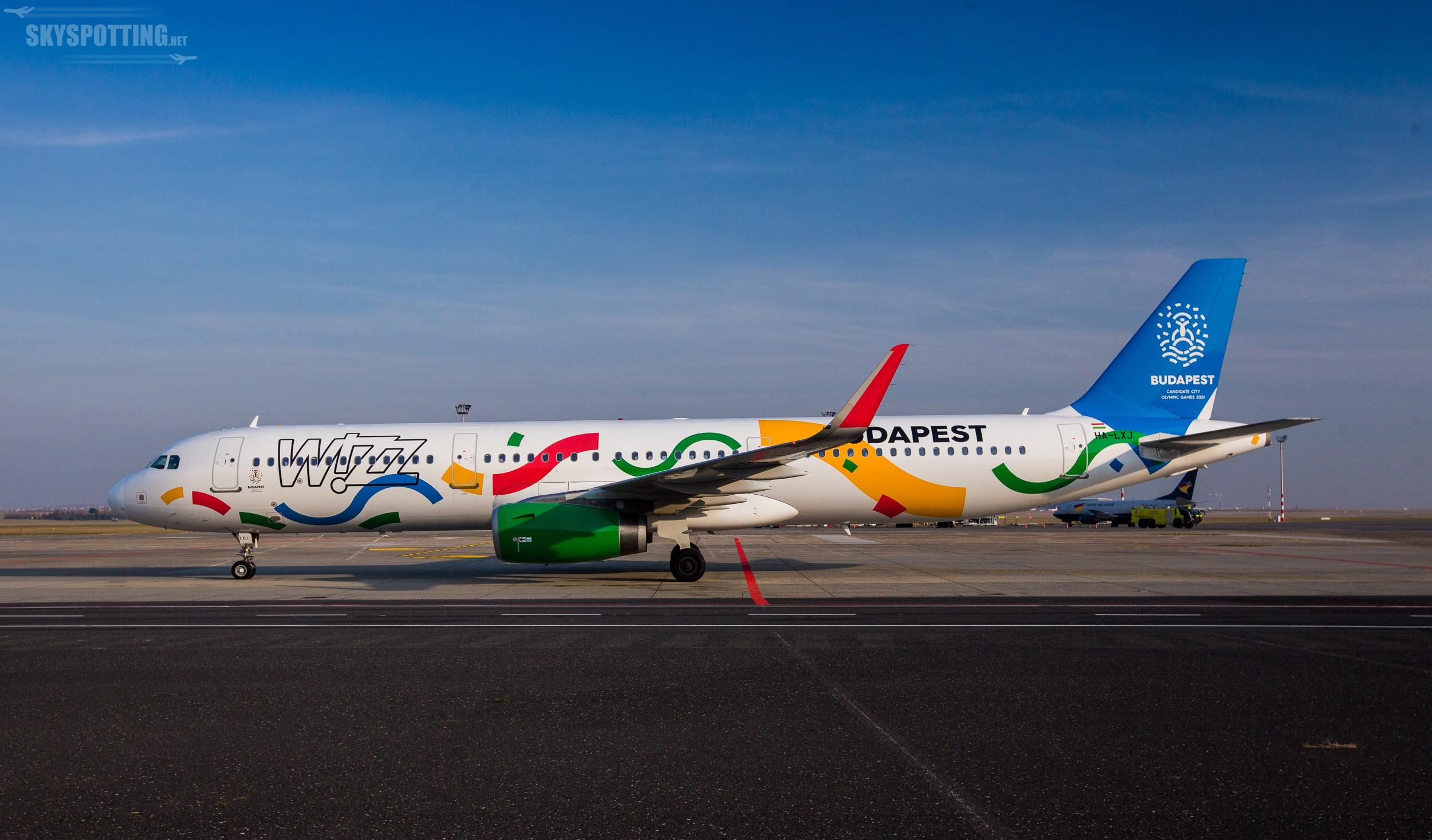 Wizz Air przedstawia wyjątkowe malowanie samolotu na lotnisku w Budapeszcie