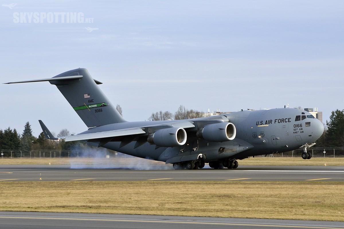 Wizyta Boeinga  C-17 Globemaster w Poznaniu