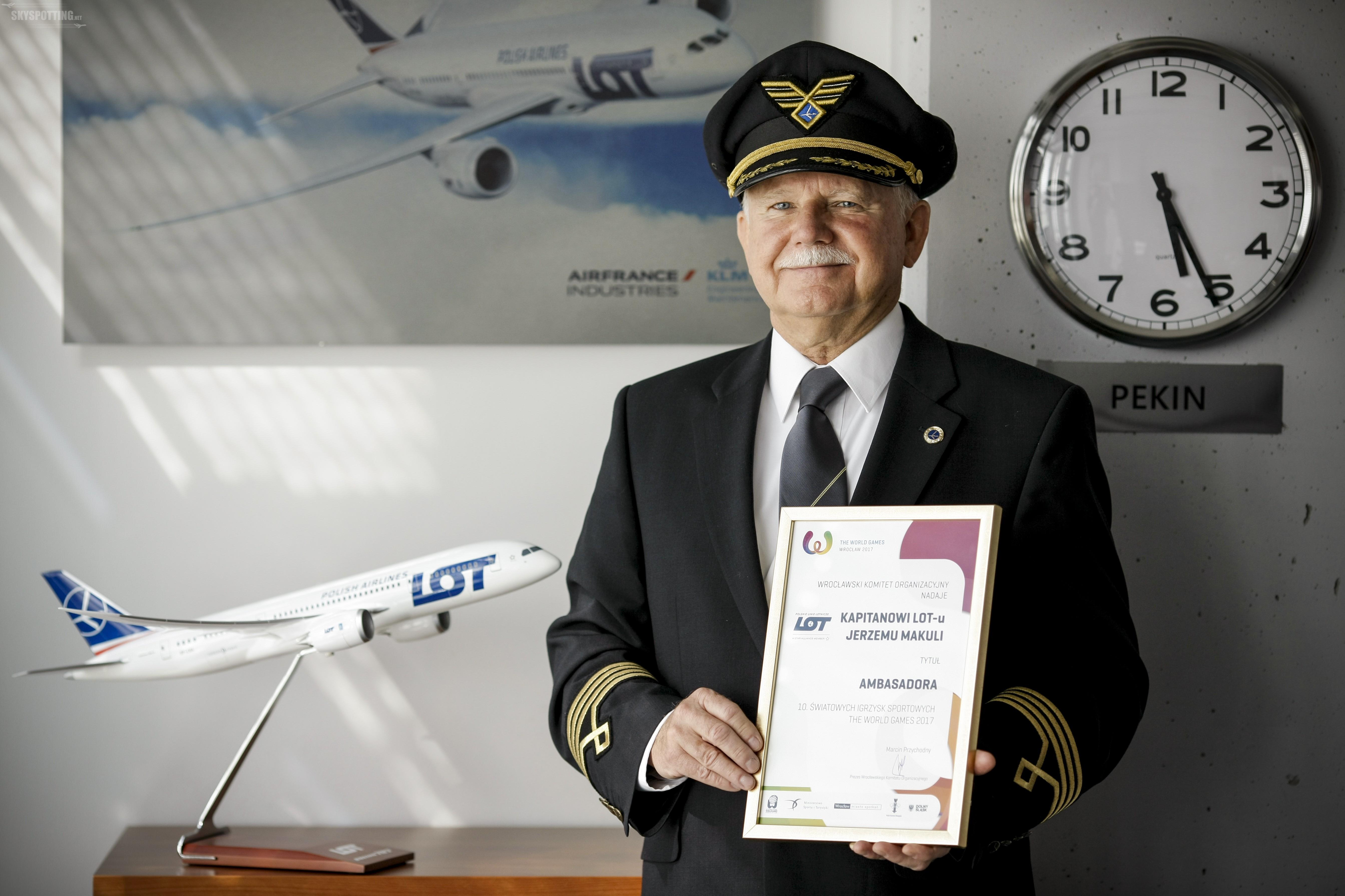 Kapitan LOT-u Jerzy Makula Ambasadorem The World Games Wrocław 2017