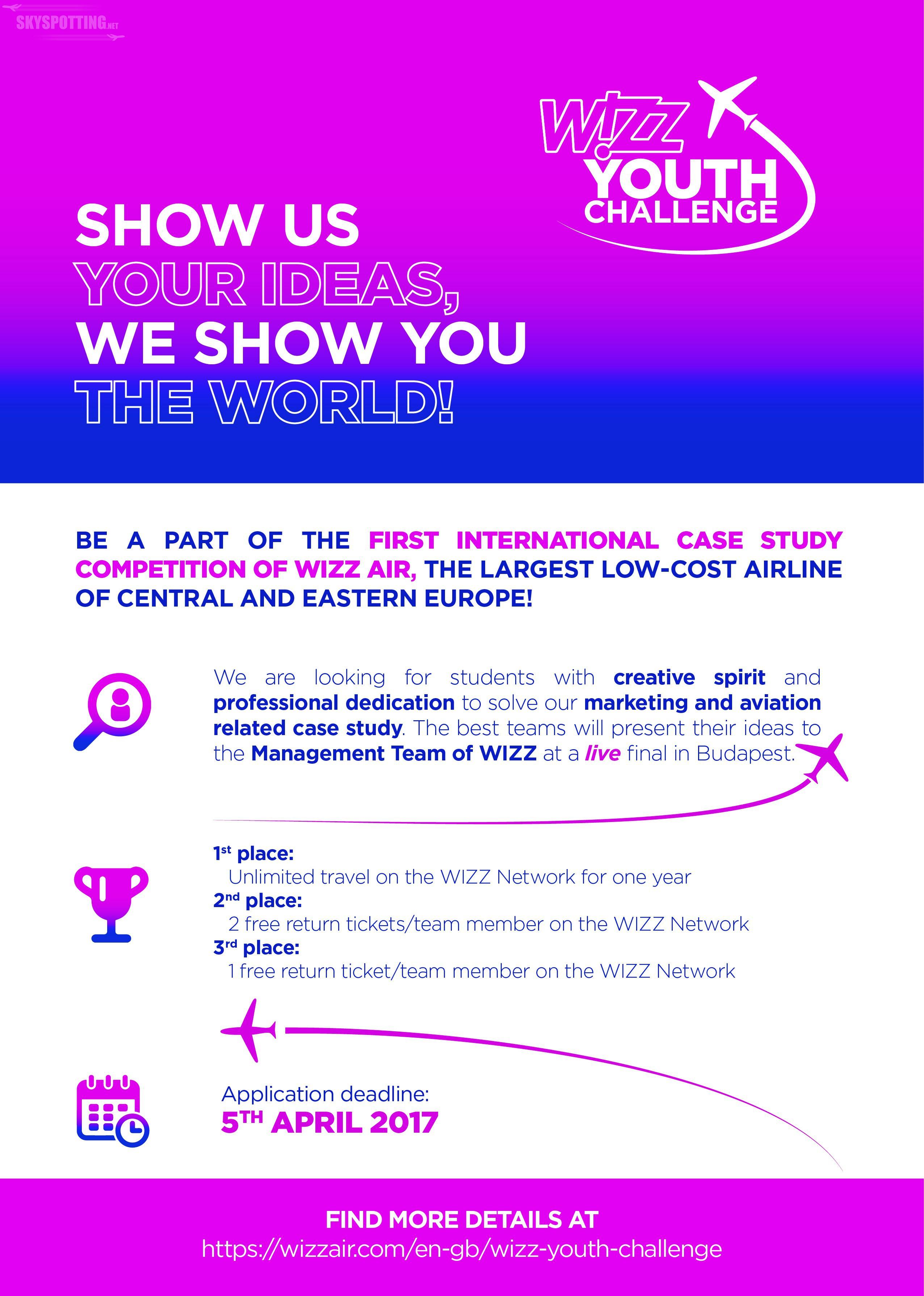 Wizz Air uruchamia Wizz Youth Challange