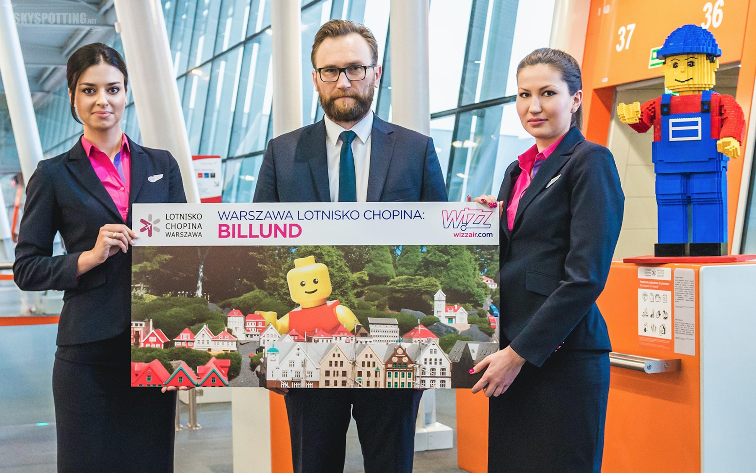 Wizz Air rozpoczyna loty z lotniska Chopina w Warszawie do Billund