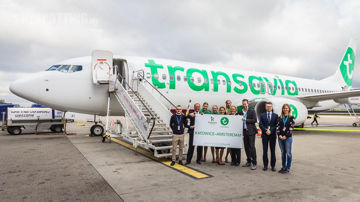 Transavia zainaugurowała nową trasę z Katowic do Amsterdamu połączenie obsługiwane będzie  trzy razy w tygodniu ceny biletów zaczynają się od 79 zł w jedną stronę