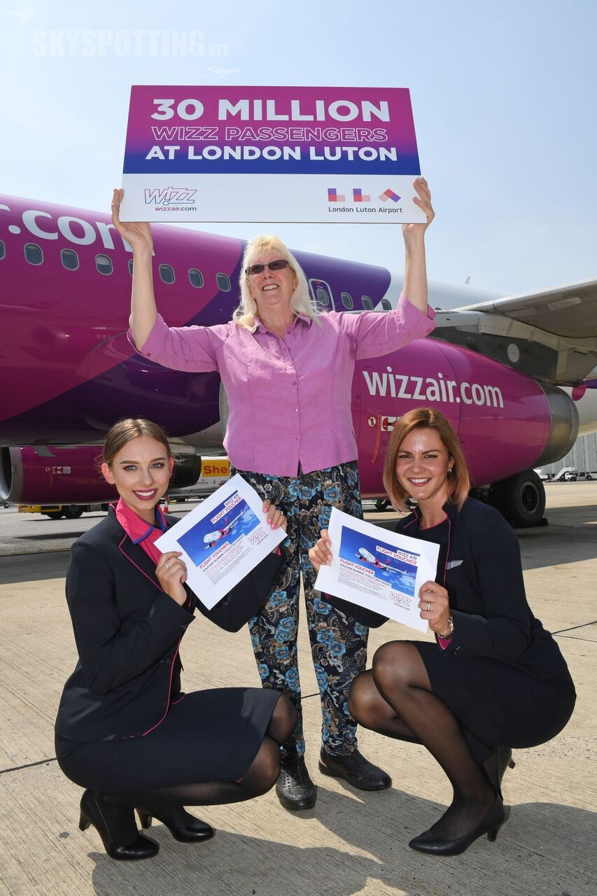 Wizz Air otwiera pierwszą bazę w Wielkiej Brytanii,  w Londynie Luton