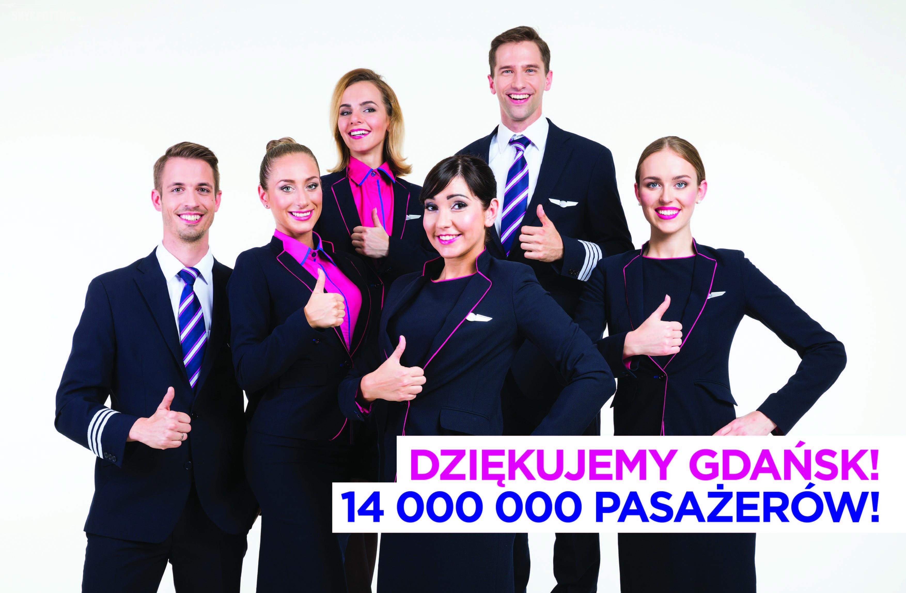 Wizz Air świętuje 14 milionów pasażerów w porcie lotniczym Gdańsk im. Lecha Wałęsy