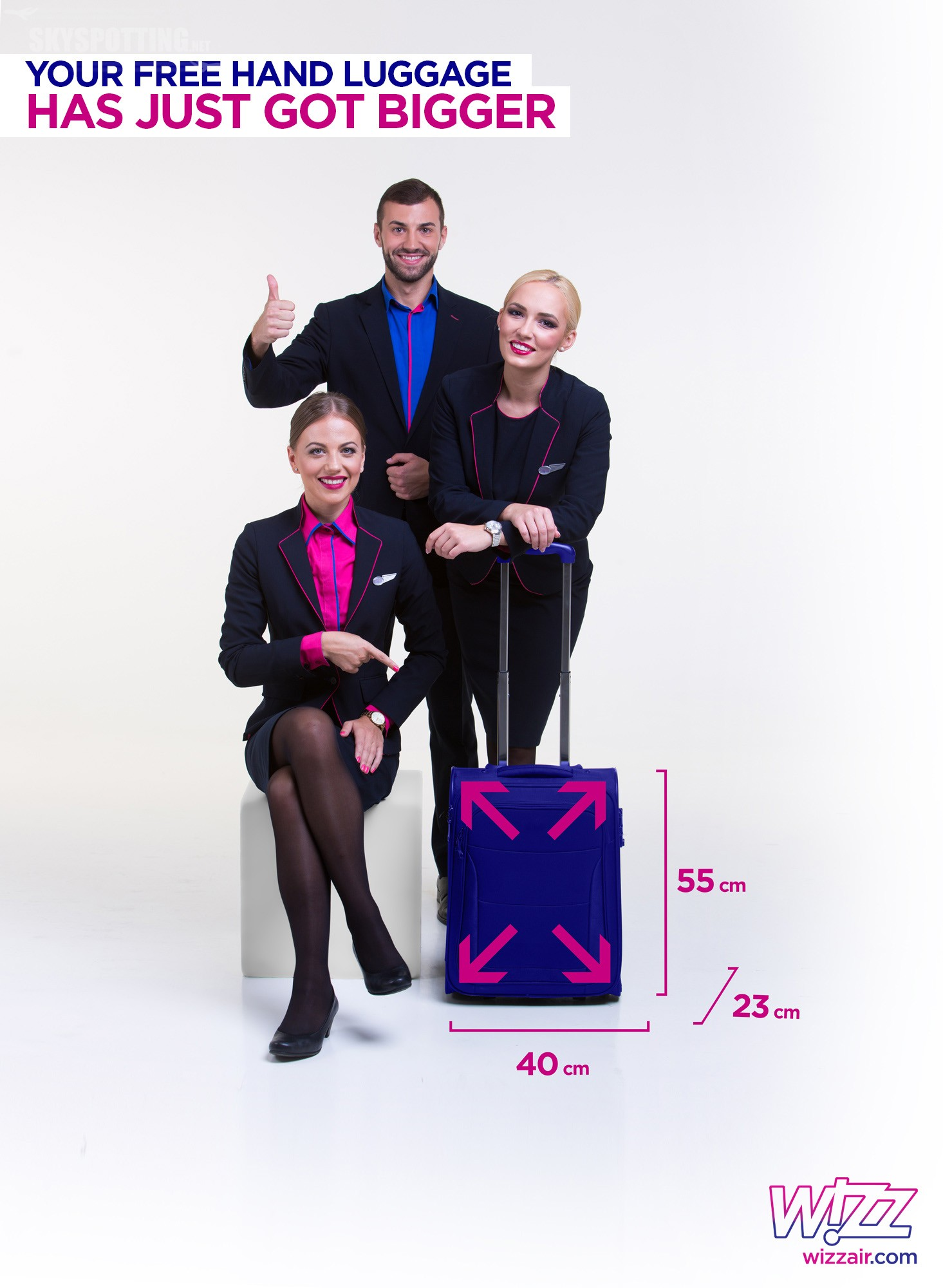 Wizz Air uruchamia nową politykę bagażową – bez opłat za bagaż podręczny