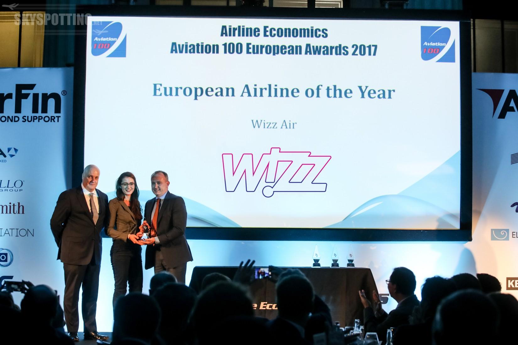 Wizz Air zdobywa tytuł europejskiej linii lotniczej roku przyznawany przez Aviation 100